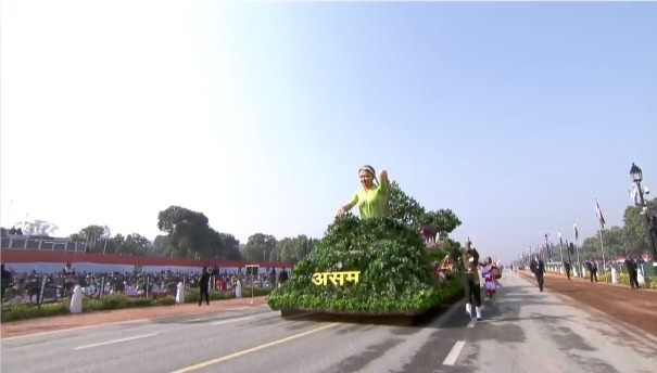 Assam's tableau displays Tea Industry in Republic Day parade