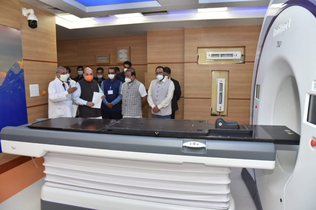HM Amit Shah inaugurates Radio Therapy Block of State Cancer Institute at GMCH